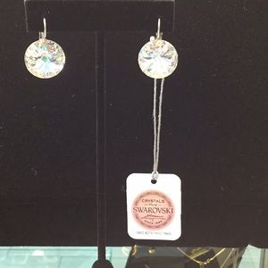 Swarovski Rhodium Plated Earrings